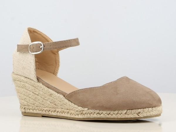 Peachyboo ° Ankle Strap Wedge Sandale ° Taupe