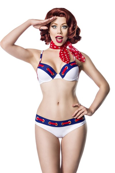 Matrosen-Bikini ° Blau-Rot-Weiß ° Pin-Up & Retro